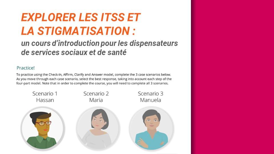 Explorer les ITSS et la stigmatisation : un cours d'introduction pour les dispensateurs de services sociaux et de santé